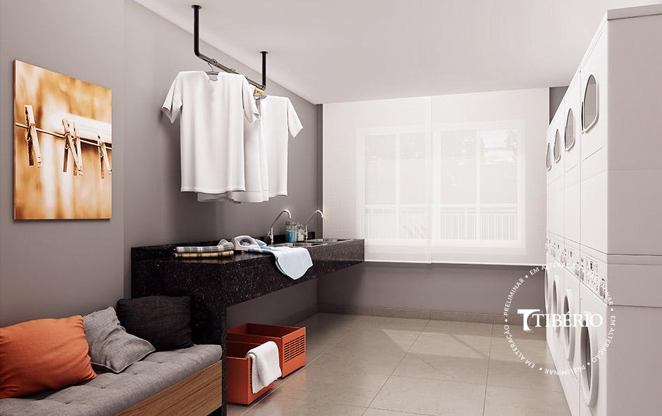 Constantino Campo Belo - Perspectiva artística da lavanderia