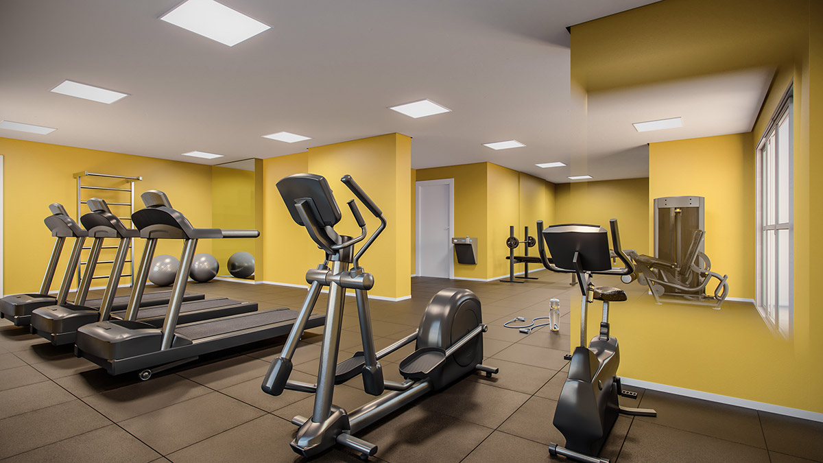 Fitness com 90m² do Next Astorga Condomínio Clube