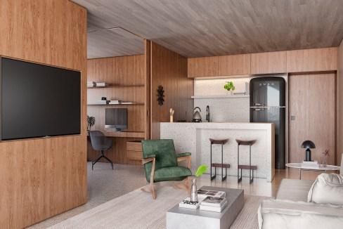 LIVING 82 M² - Empreendimento ESQUINA Pinheiros da Nortis