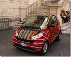 crocheted car cozy