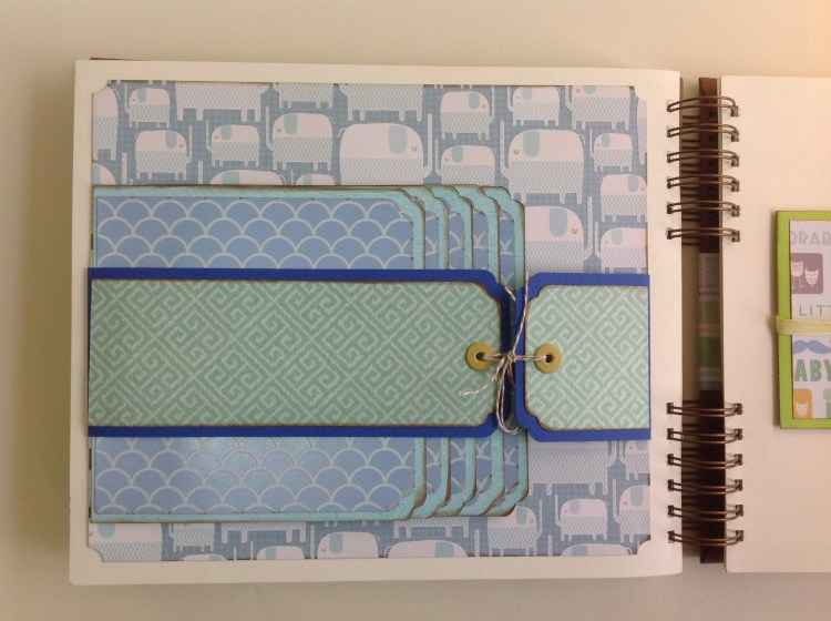 Album scrapbook para baby shower o bebe (14)