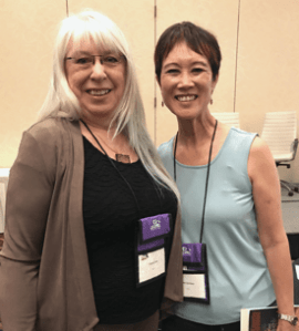 Sheila with Tess Gerritsen at CCWC 2019