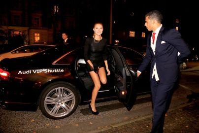 Germany's Next Top Model Kandidatin kam in den Genuss des Audi VIP Shuttles