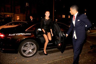 Germany's Next Top Model Kandidatin kam in den Genuss des Audi VIP Shuttles