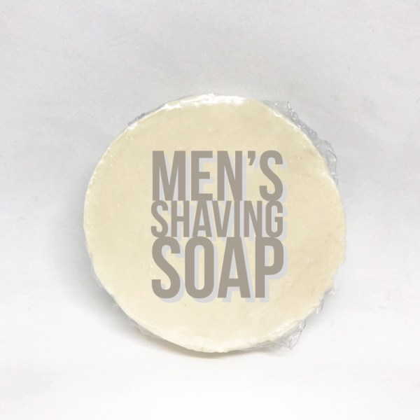 Round Men's Shaving Soap