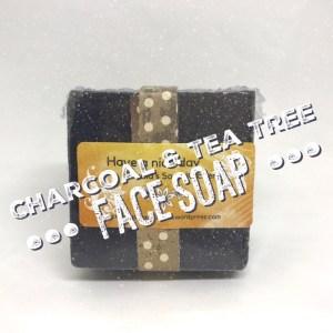 Charcoal tea tree face soap