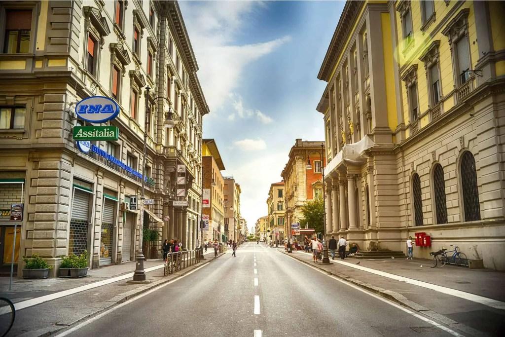 italian street in summer
