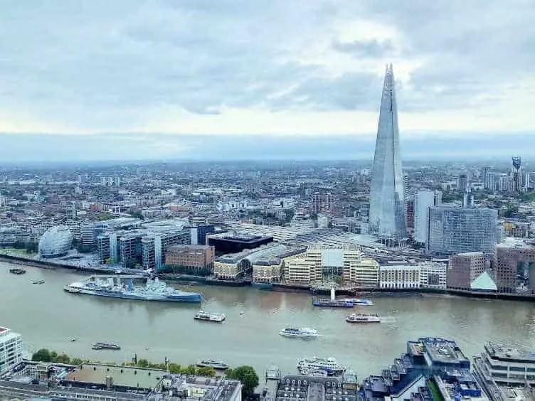 london shard and skyline