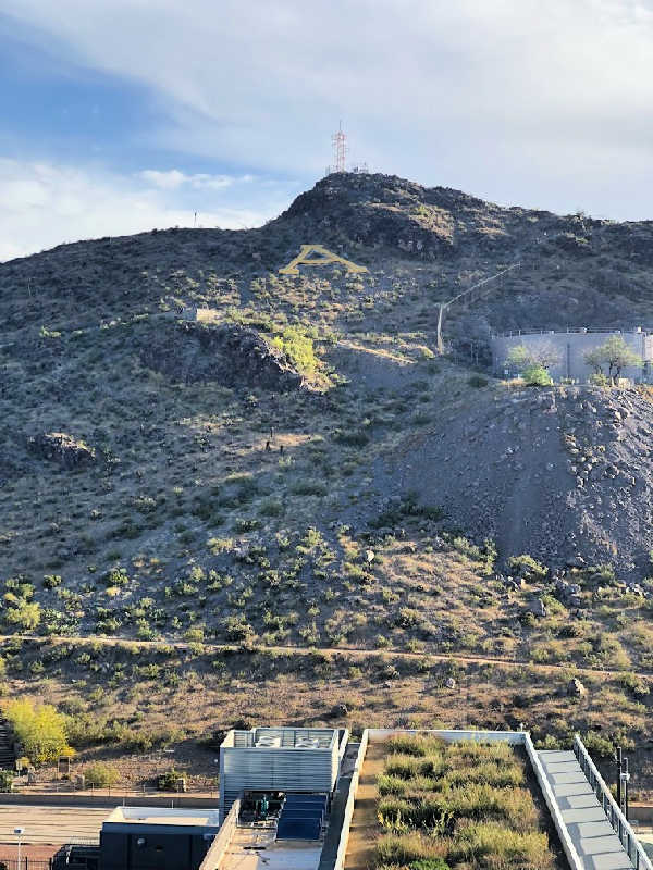 A mountain at sunrise in tempe