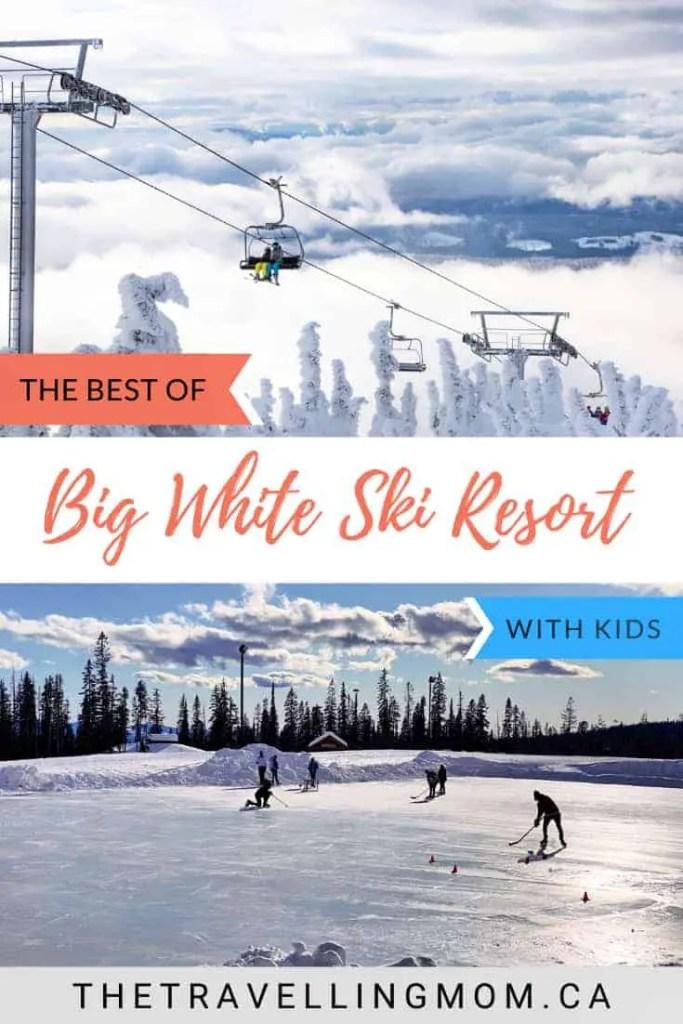 skiers and skaters at big white ski resort kelowna