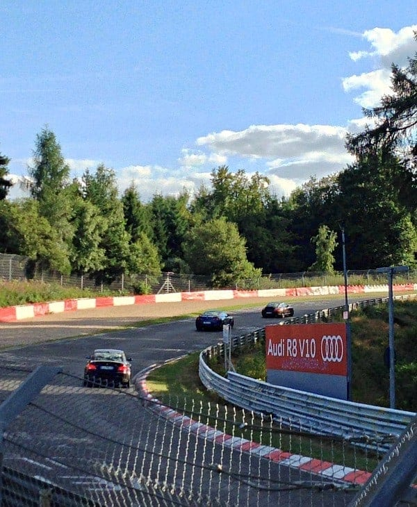 cars racing track in germany