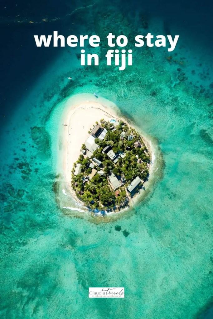 island of fiji in turquoise ocean