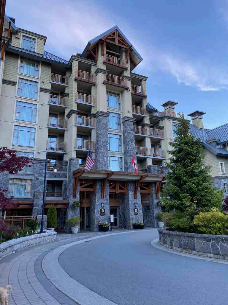 exterior of pan pacific whistler hotel