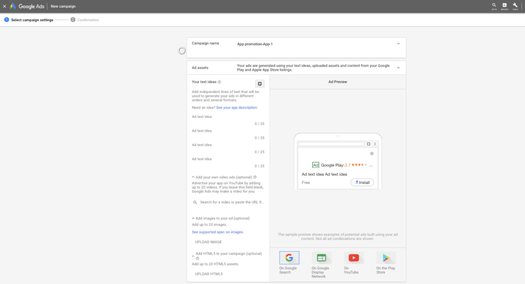 google ads to download apps
