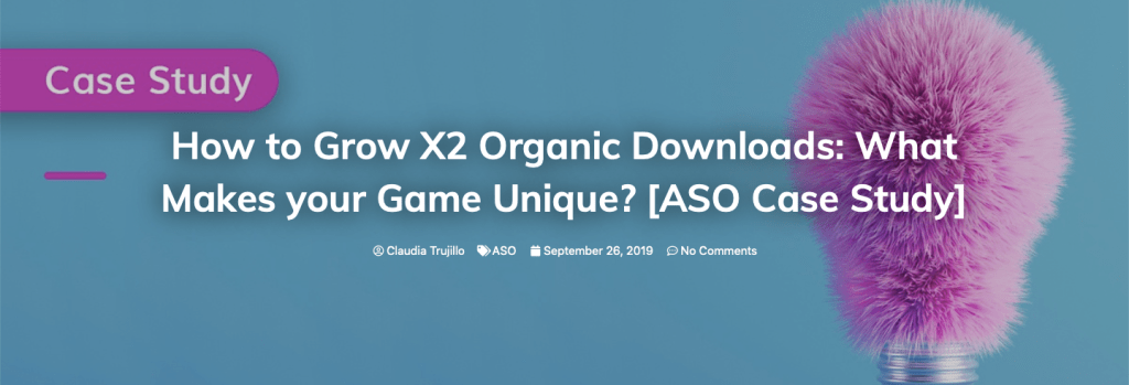 ASO Case Study how duplicate Organic Downloads