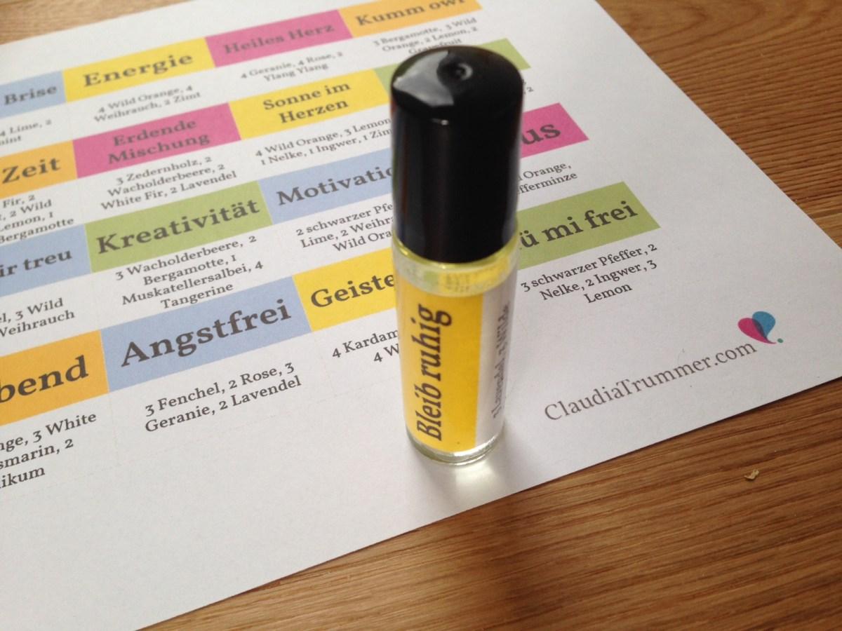 20 Aromaöle-Mischungen für Roll-ons zur emotionalen Unterstützung