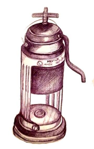 Artwork for a vintage Coffee Shop (Ballpoint Pen)