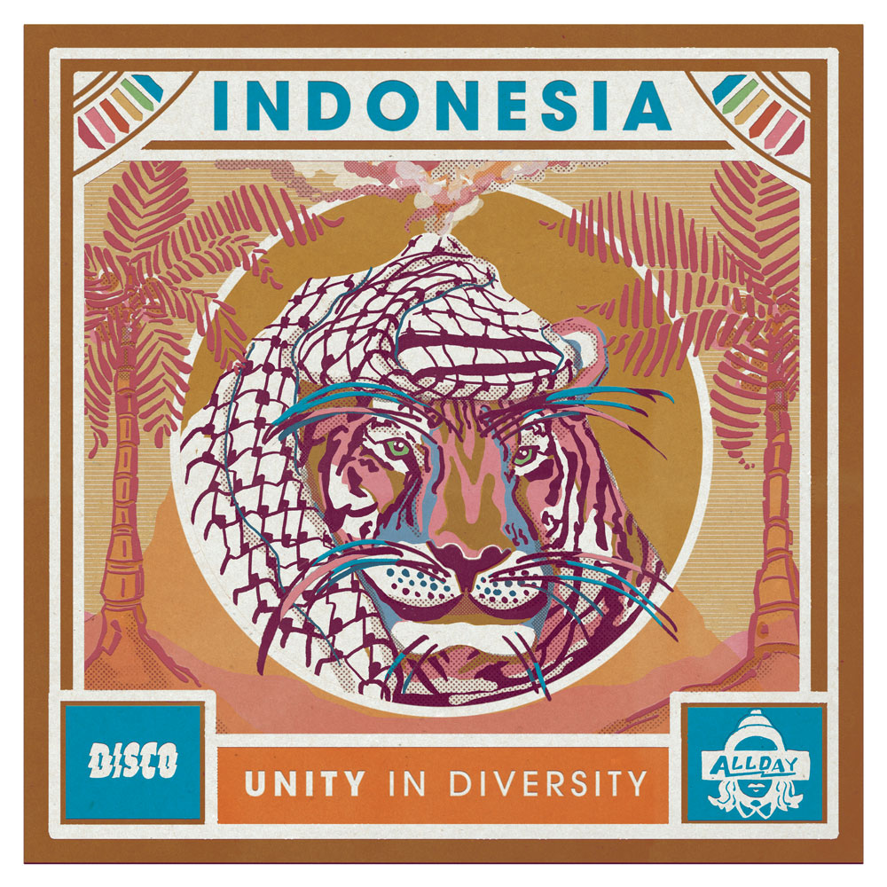 "Cover Artwork for Art Show Project ""Indonesia I Unity in diversity (Digital Media)"
