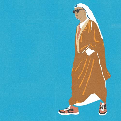 Claudie Linke Illustration_Muslim on Sneakers