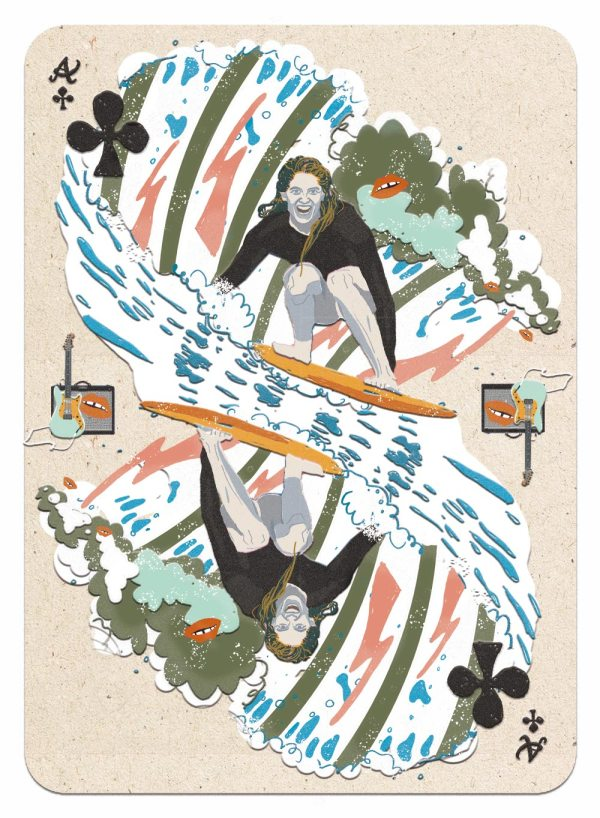 Claudie Linke Illustration_Stephanie Gilmore surfing