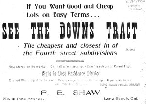 Location: Between 4th and 5th Street, on both sides of Nebraska. (Eve. Tribune 12/10/1902)