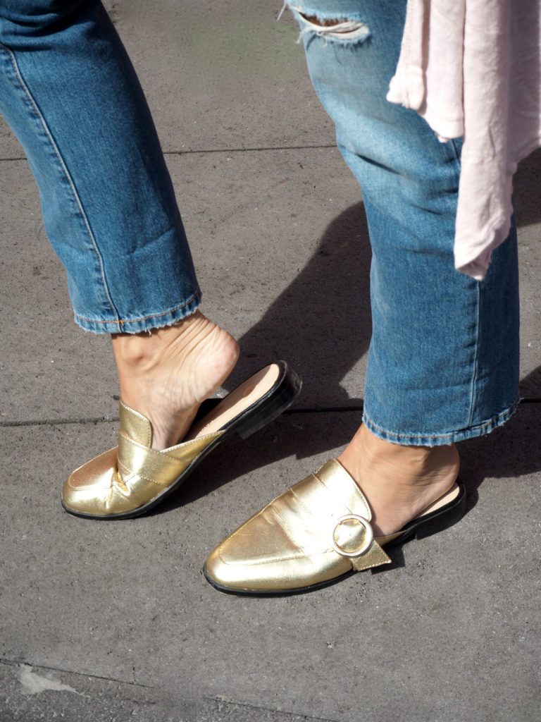 golden shoes claudinesroom
