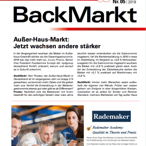 Back Markt Ausgabe 05-2019 – (German Language)