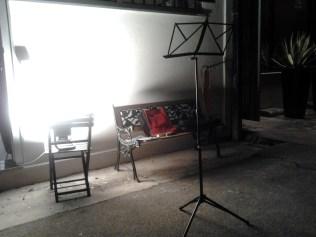 La nostra sala prove, a Faenza in Via Risorgimento.