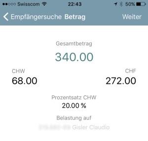WIRpay - zwei Währungen in einer Transaktiion
