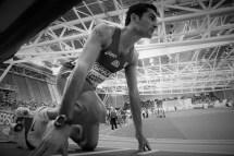 Foto Omega/Giancarlo Colombo. Torino, 06-03-2009 Conferenza stampa di presentazione dei campionati europei di atletica indoor Torino 2009. Nella foto Licciardello Claudio 400 metri