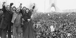 More than a million supporters of an Islamic republic assembled around Shayad (Shah Memorial) monument in Tehran in a powerful show of strength against the civilian government left behind by Shah Mohammad Reza Pahlavi, Jan. 19, 1979. Similar demonstrations were held all over the country, most of them peaceful. (AP Photo/Aristotle Saris)