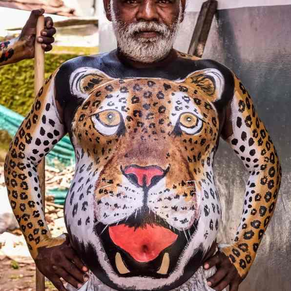 India - Kerala - Thrissur - Onam Festival - Pulikali-35