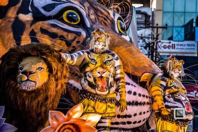 India - Kerala - Thrissur - Onam Festival - Pulikali-72