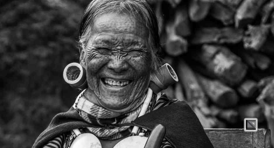 Myanmar Chin Tribe Portraits Black and White-10