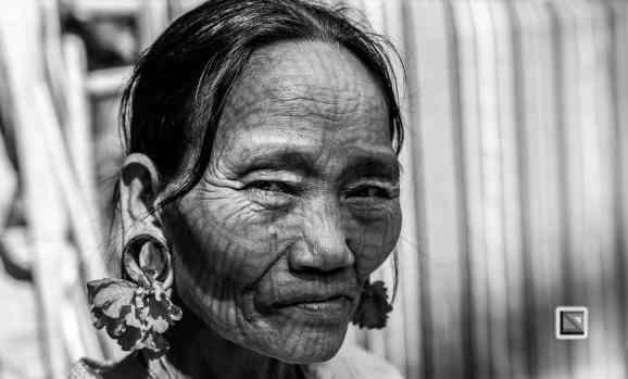 Myanmar Chin Tribe Portraits Black and White Mrauk-U-5