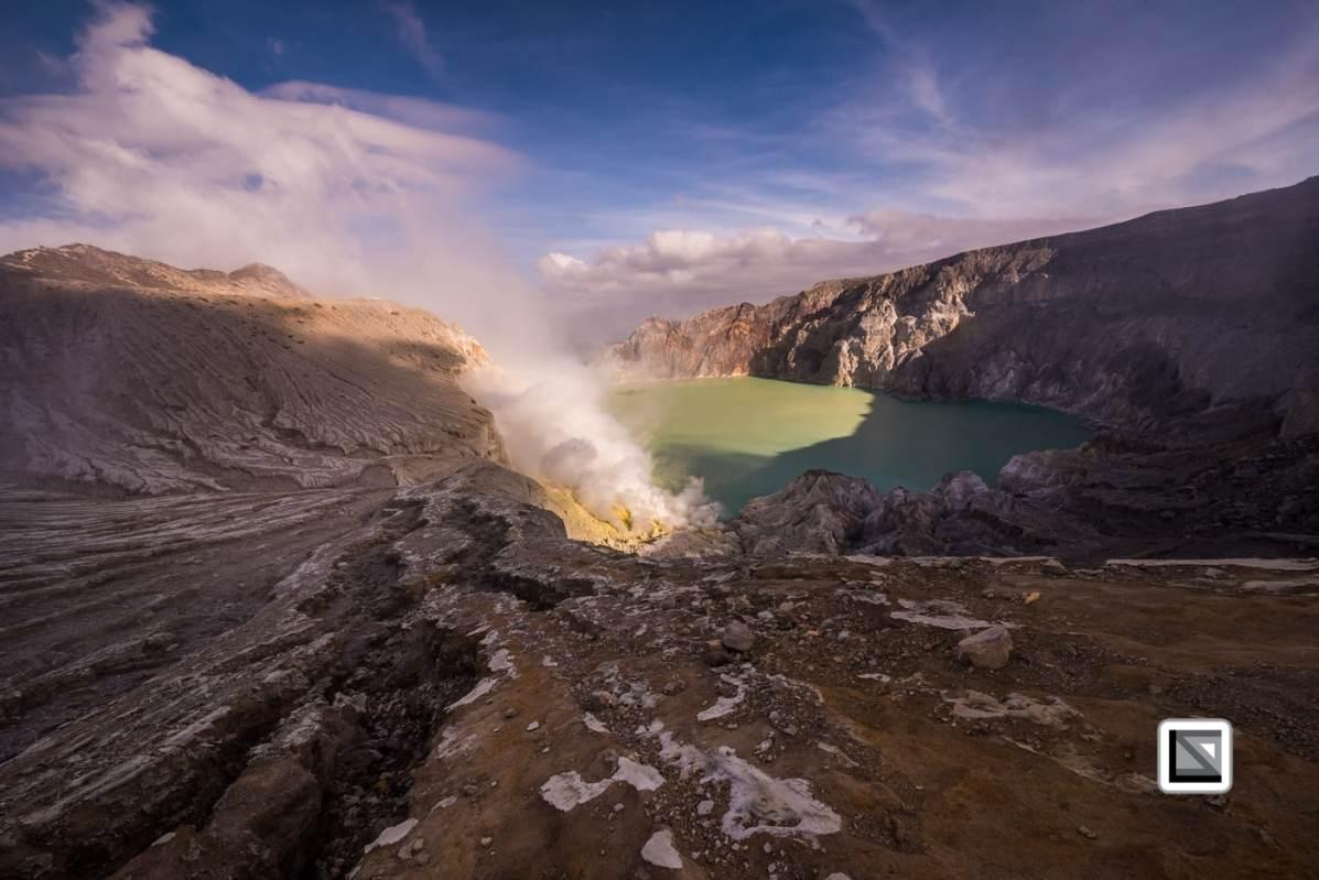 Ijen Volcano, East Java, Indonesia - sulfur mining site and tourist hotspot