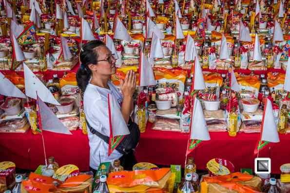 Pudu ritual during Ghost Month in Taiwan Sanxia - near Taipei hosted by spirit medium Nana Chen