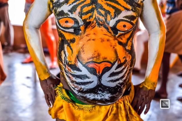 India - Kerala - Thrissur - Onam Festival - Pulikali-18