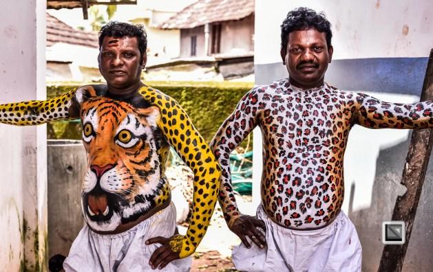 India - Kerala - Thrissur - Onam Festival - Pulikali-39