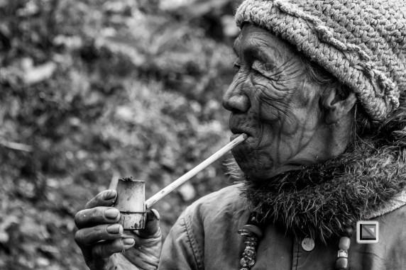Myanmar Chin Tribe Portraits Black and White-12