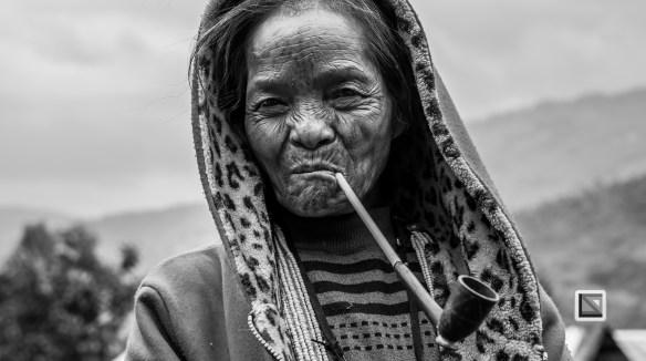 Myanmar Chin Tribe Portraits Black and White-21