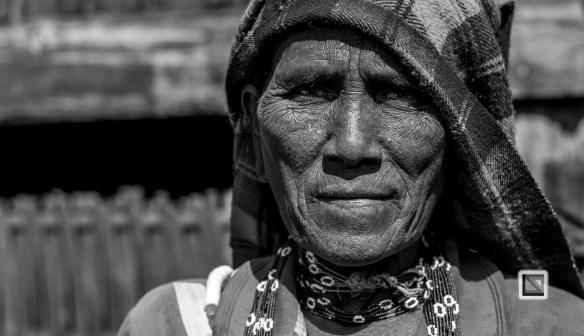 Myanmar Chin Tribe Portraits Black and White-29