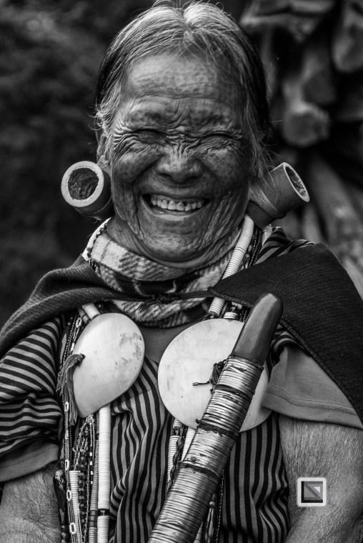 Myanmar Chin Tribe Portraits Black and White-9