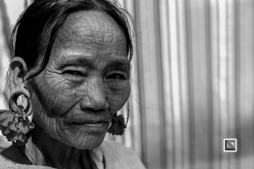 Myanmar Chin Tribe Portraits Black and White Mrauk-U-3