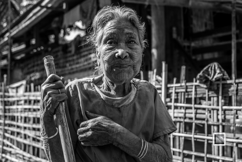 Myanmar Chin Tribe Portraits Black and White Mrauk-U-33