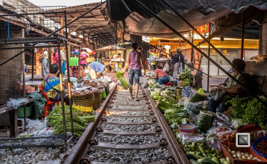 Maeklong Train Market Color
