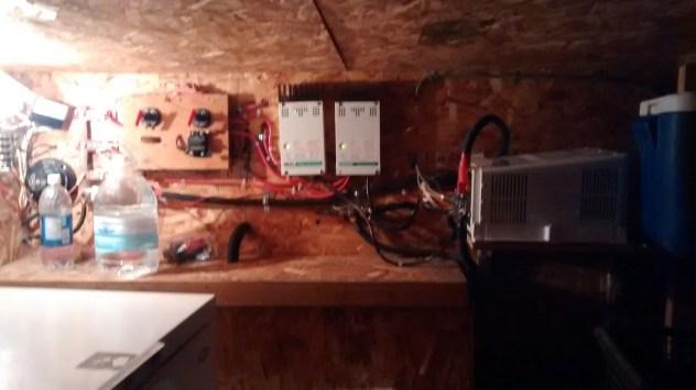 Battery storage, gauges and invetor...