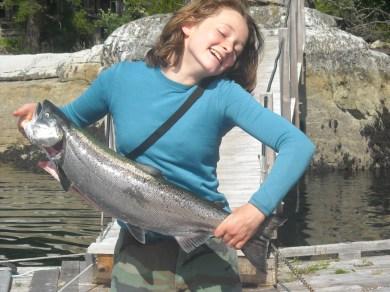 F. & her nice Spring salmon