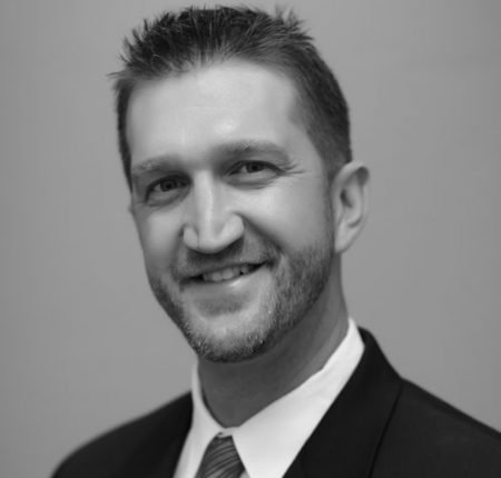 image of attorney Darren Clausen in greyscale