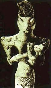 Estátua de Anu, deus sumério do Céu, aspecto reptiliano